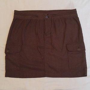 IZOD Linen Cargo Skirt - 14